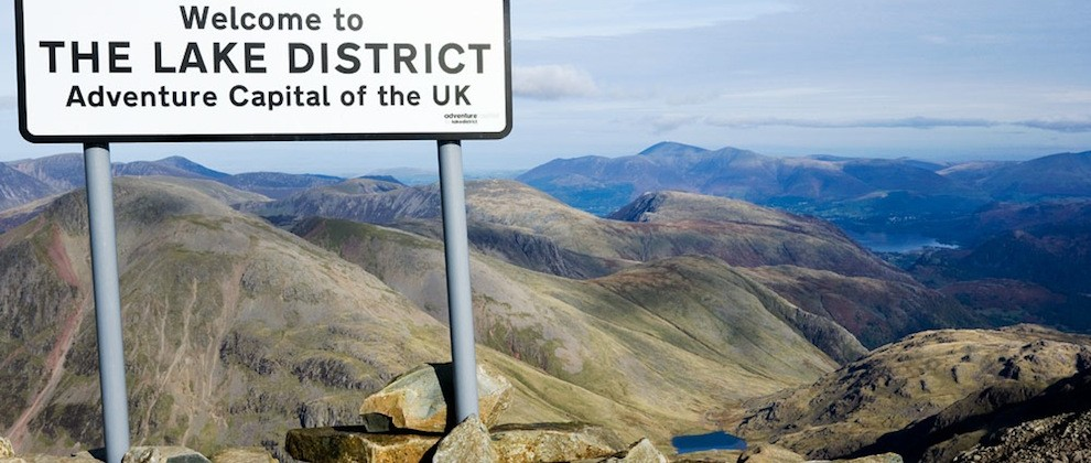 Welcome to the Lake District at Scafell Pike